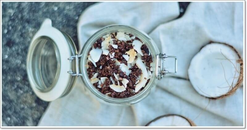 Granola de Quinoa e Coco