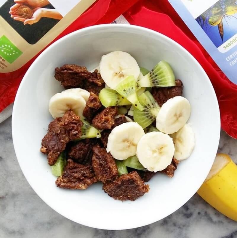 Panquecas de Maca, Banana e Alfarroba