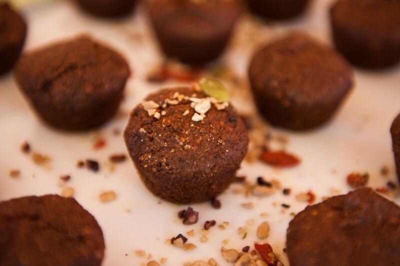 Muffins de Pequeno Buda Alfarroba