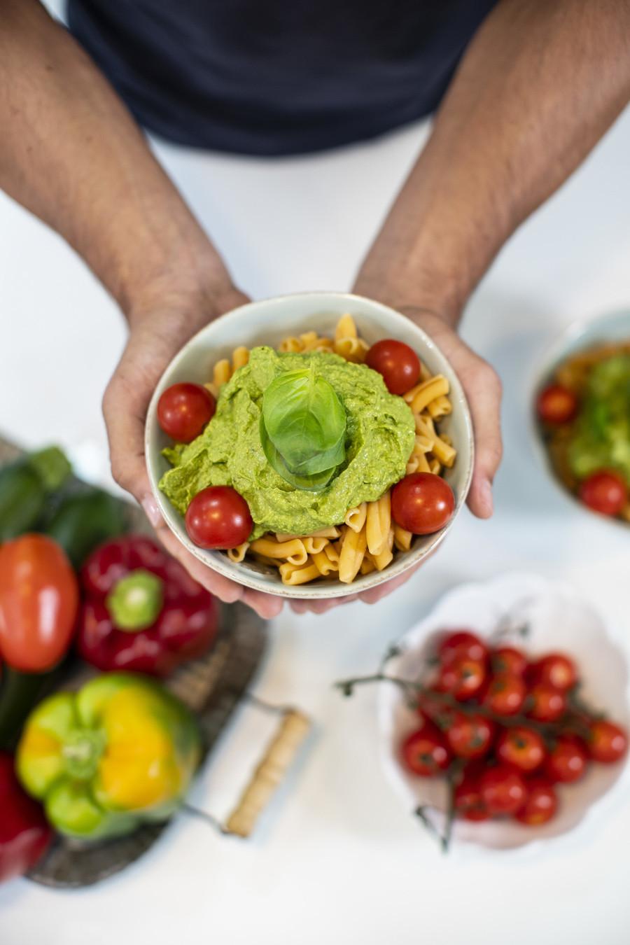 Pesto de Abacate Rico em Proteínas