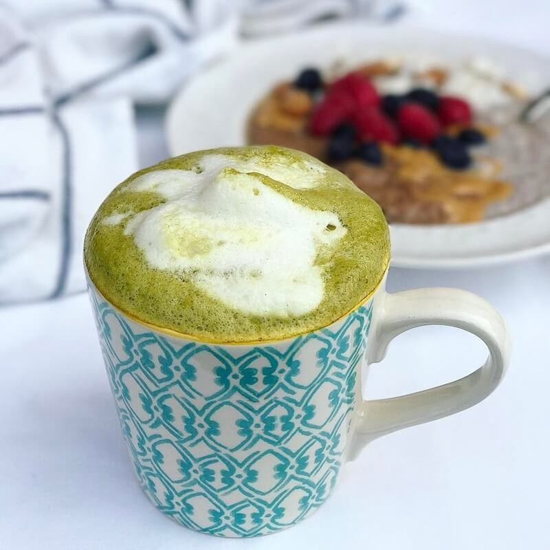 Hot Drink with Matcha & Turmeric