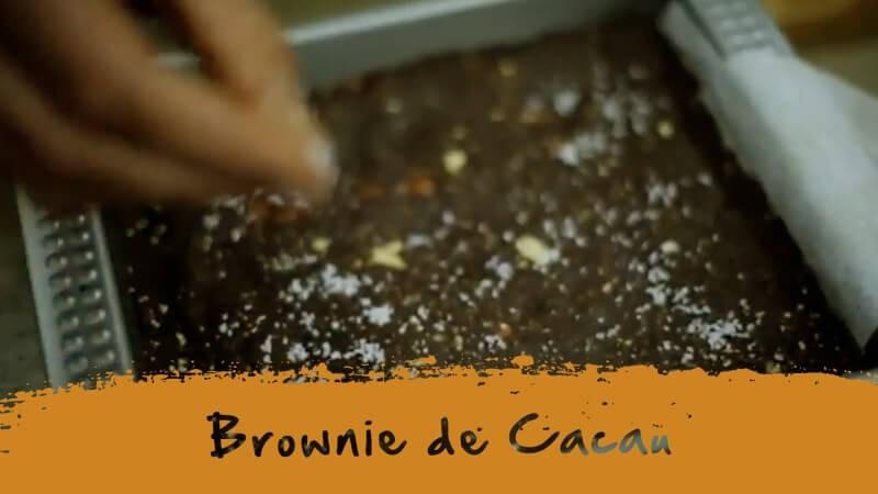 Brownie de Cacau e Reishi