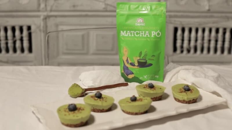 Tortini Crudi di Matcha e Cacao