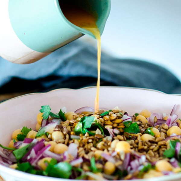 Salada Quente De Lentilhas Com Cebola Roxa E Hortelã