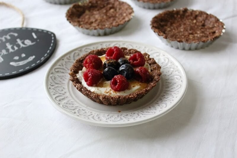 Cocoa and Coconut Mini Pies