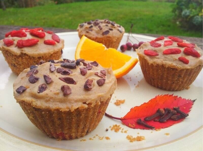 Spiced Orange Superfood Cupcakes