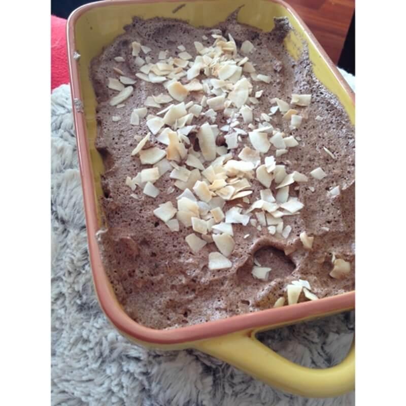 Brownie de frigorífico ou nuvens de chocolate