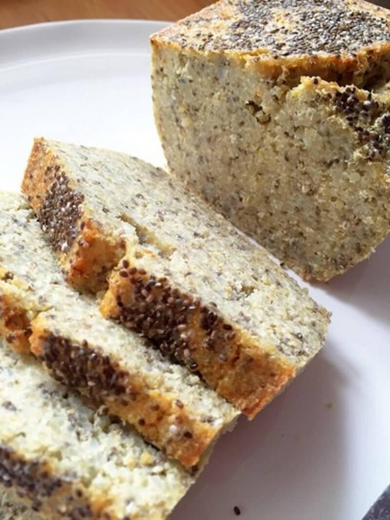 Pão de Quinoa e Arroz Integral