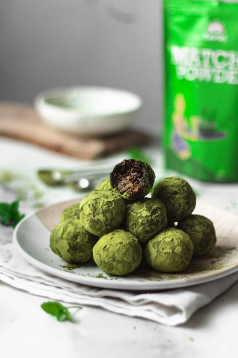 Trufas de chocolate Chai Matcha Bliss