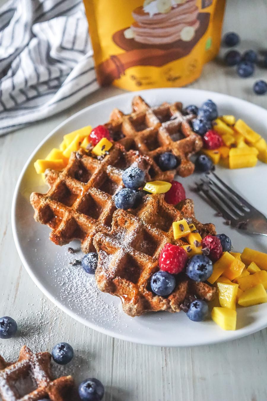 Waffle Mix Banana, Cânhamo e Canela