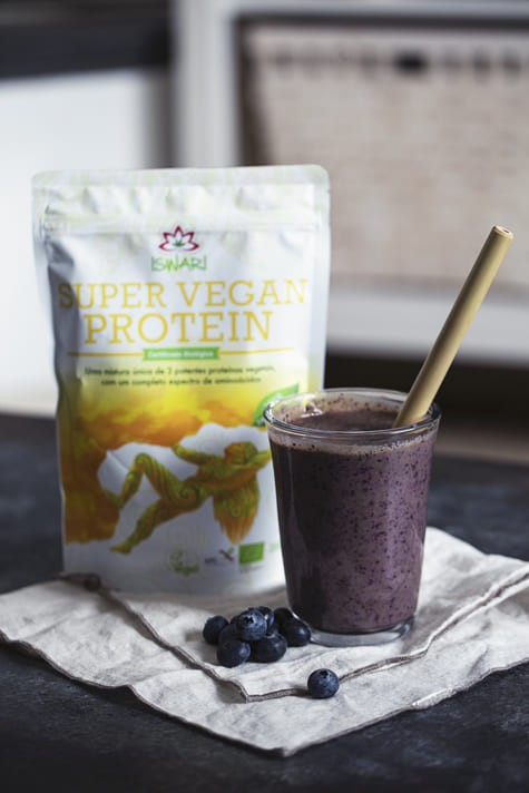 Smoothie de Super Vegan Com Mirtilos