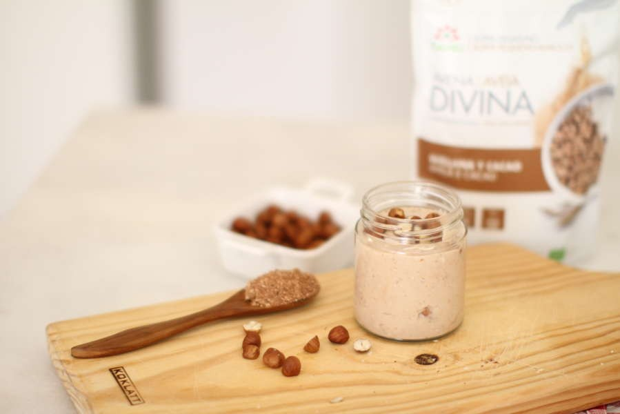 Gluten-Free Cocoa and Hazelnut Butter Oat Yofu