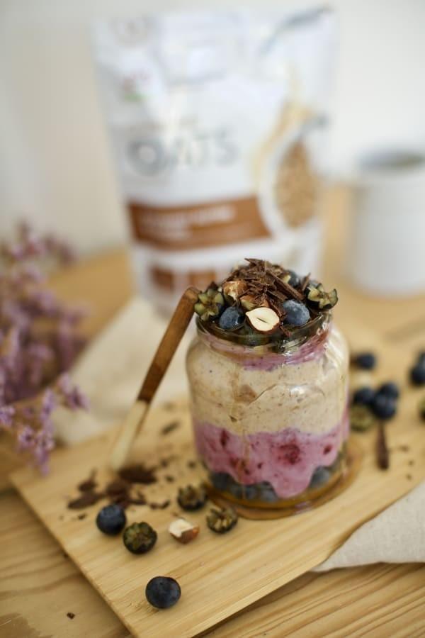 Oaty Cacao Hazelnut and Blueberry Yoghurt