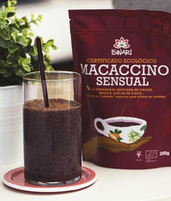 Creamy Macaccino Sensual Y Arándanos Shake
