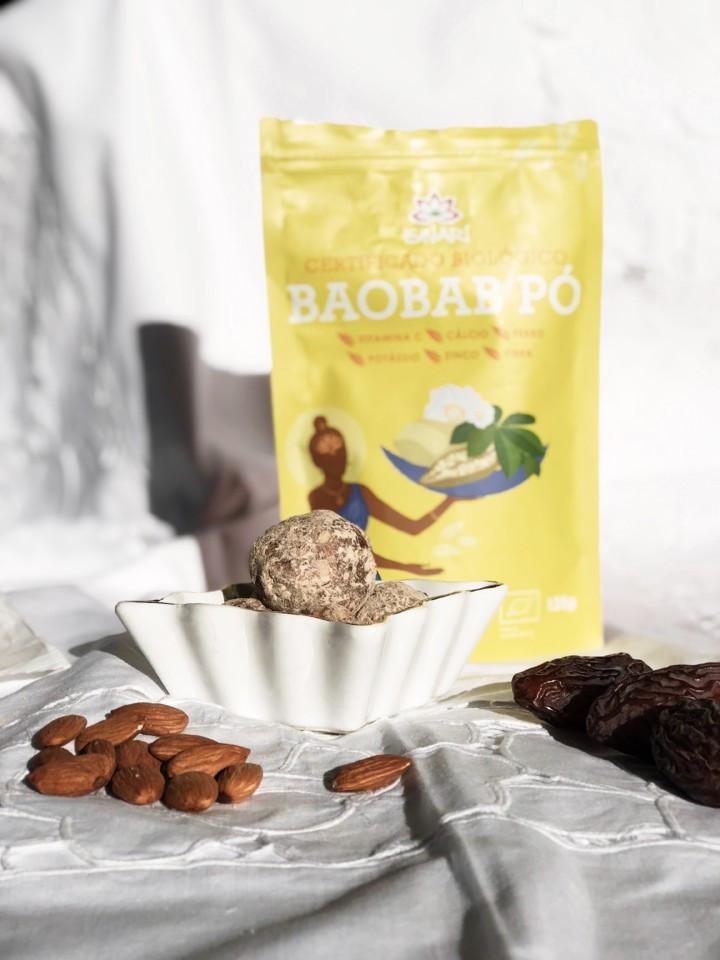 Trufas de Amêndoa e Baobá