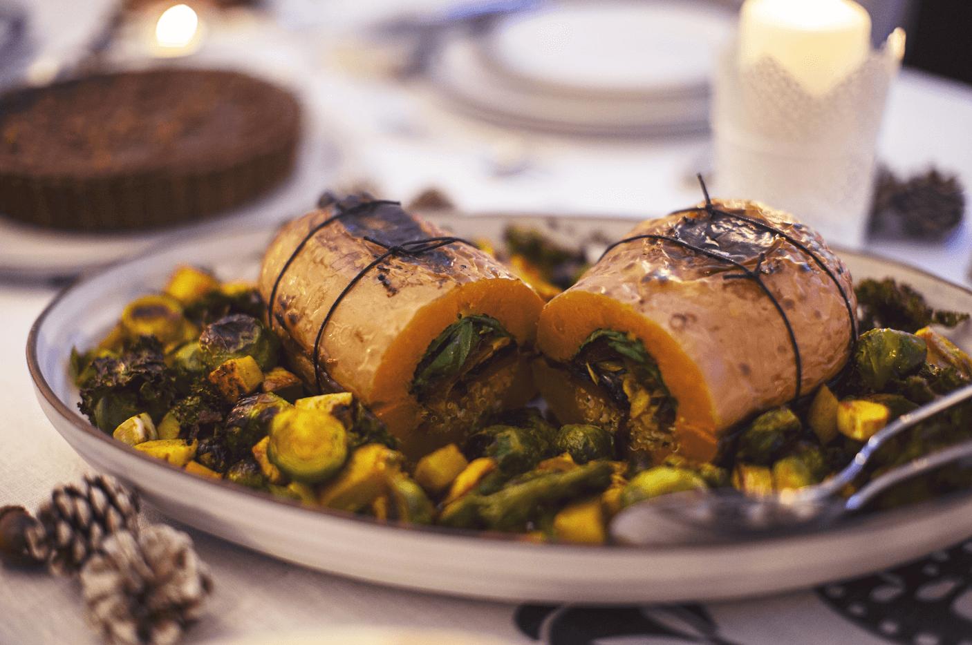Verduras al horno con cúrcuma