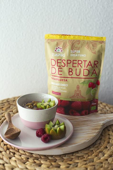 Yogur Vegetal De Coco Con Despertar De Buda De Frambuesa