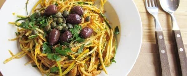 Spaghettis De Courgettes Au Moringa