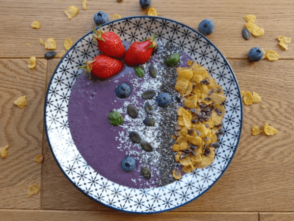 Purple Smoothie Bowl À L'Acaï