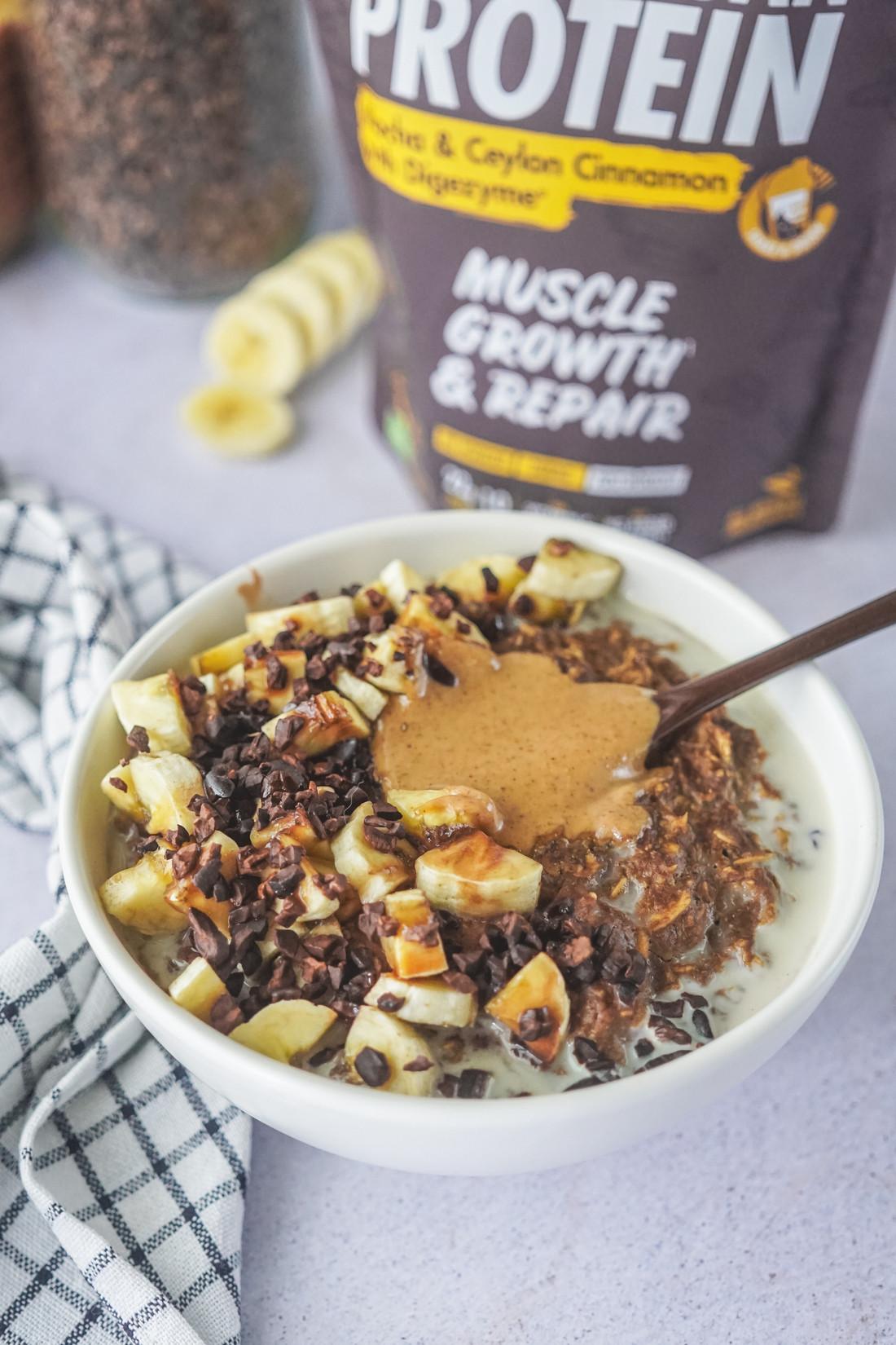 Porridge de Aveia e Mocha