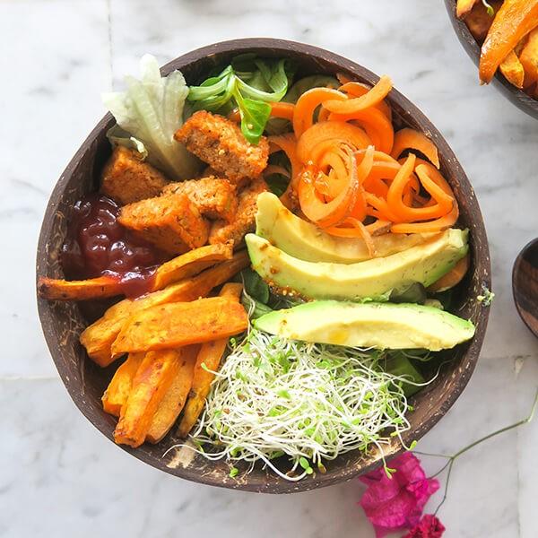 Salade De Riz De Chou-Fleur Avec Du Citron Vert