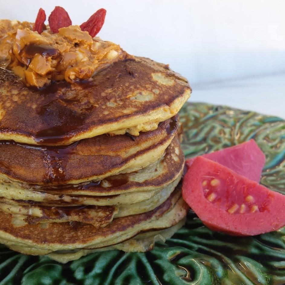 Pancake saludable de patata dulce