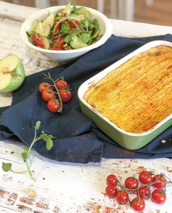 Tarte Aux Lentilles, Champignons Et Patates Douces