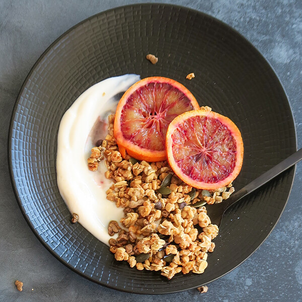 Yogur vegetal con Granola de Frutos Secos