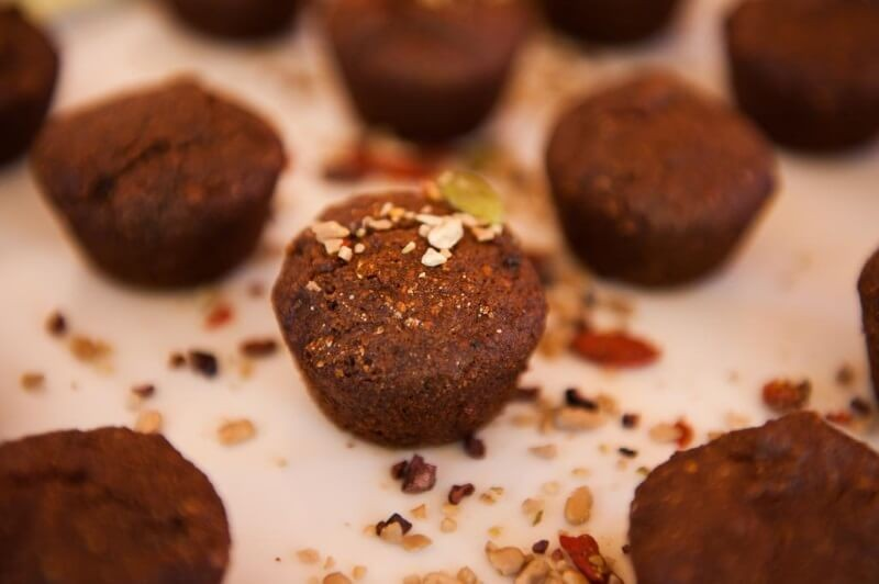 Muffins Pequeño Buda Algarroba