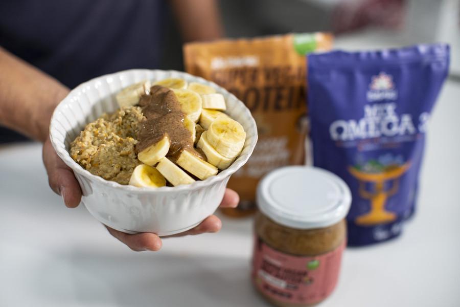 Porridge di Carote Proteico