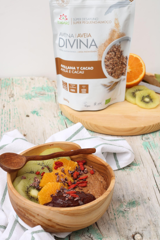 Bowl de Avena Divina de Avellana y Cacao