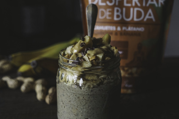 Porridge Guloso de Amendoim e Banana