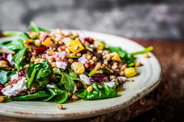 Salada Proteica com Vinagrete de Algas