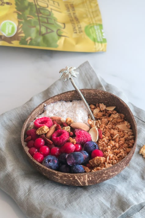Pudding De Chia Bouddha Proteines, Fruit Rouges et Muesli