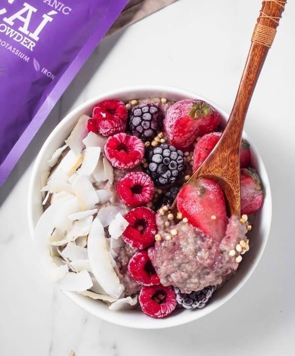 Porridge Saludable de Avena y Açai
